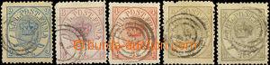 33007 - 1864 Mi.11-15A, Královské insignie, horší zoubkování (