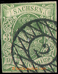 33042 - 1851 Mi.2/II., Coat of arms, numeral pmk 2, from the L close