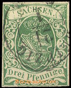 33045 - 1851 Mi.2/II., Coat of arms, wide margins, larger part light