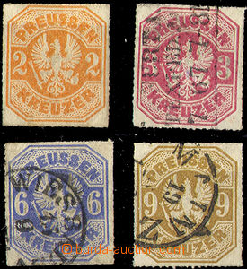 33056 - 1867 Mi.23-26, Coat of arms, No.23 hint and viewing of quali