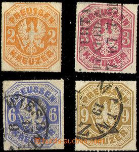 33056 - 1867 Mi.23-26, Znak, č.23 stopa a KVP, jinak dobrá jakost,