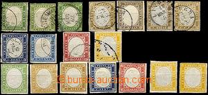 33061 - 1855 Mi.10-14, Emanuel II.,  selection of 18 pcs of stamps,