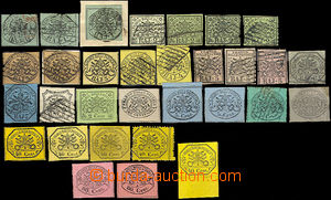 33077 - 1852/67 selection of 32 pcs of stamps, evidently also reprin