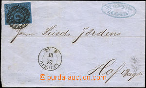 33081 - 1863 letter with Mi.10, numeral pmk 2, CDS Leipzig/ 24.III.6