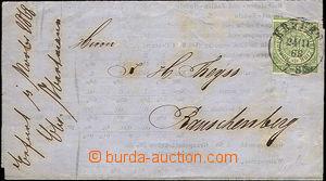 33082 - 1868 skládaný tiskopis vyfr. zn. Mi.2, DR Erfurt/ 24.II.68