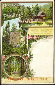 33136 - 1902 Příběnice - 3-views, collage lithography, Un, long a