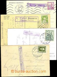 33179 - 1923/48 4 postcard with postal agency pmk ČERNÉ JEZERO (Š
