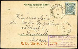 33185 - 1903 pohlednice s fialovým razítkem soukromé listovní sb