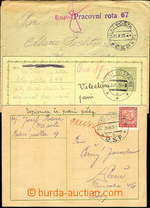 33191 - 1938 3 prošlé celistvosti s razítky PP 9b, 12, 49a, z toh