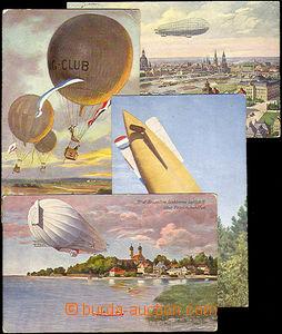 33192 - 1912/17 4 color postcard : Graf Zeppelin above Fridrichshafe