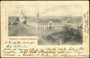 33226 - 1901 Králův Městec -   B/W postcard, long address, Us, te