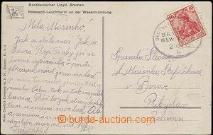 33340 - 1912 NĚMECKO  barevná pohlednice, vyd. Norddeutscher Lloyd