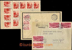 33351 - 1953 3 dopisy s frankaturou 30Kčs, DR Bratislava/ 16.VI.53,