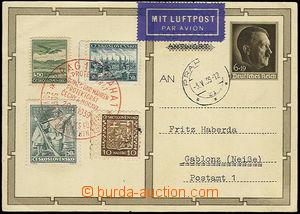 33357 - 1939 obrazová něm. dopisnice Mi.P278/2 k narozeninám A.H.