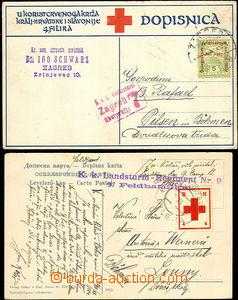 33381 - 1914/16 ČERVENÝ KŘÍŽ   2 celistvosti zaslané v l. sv.