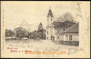 33463 - 1901 Hevlín - Gruss aus Höflein a. d. Thaya, partie s kost