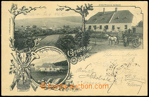 33467 - 1901 Ochoz - Gruss aus Ochos, general view, carriage before/