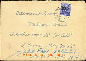 33534 - 1948 SOVIET ZONE  letter to USA with Mi.194, CDS Neukalen (M
