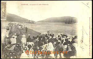 33536 - 1905 MADAGASKAR  pohlednice zaslaná do Holandska, vyfr. zn.