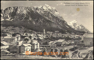 33537 - 1933 Cortina d´Ampezzo -  B/W view of town below horami, Us