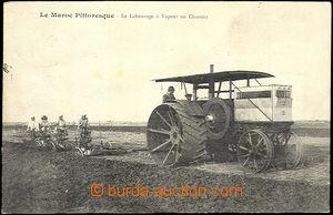 33540 - 1916 MAROKO  čb záběr na traktor  při orbě na poli, his