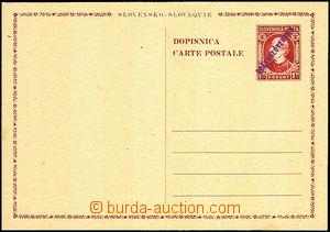33564 - 1945 provisional issue CDV VI., Hlinka 1,50 Koruna, overprin