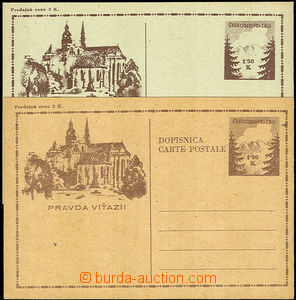 33565 - 1945 CDV73, 73Pa, 74, Košice-issue 3 pcs of, on/for CDV74 tw