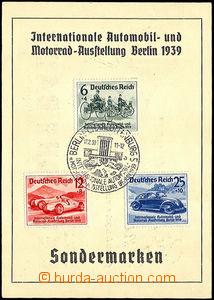 33594 - 1939 NĚMECKO   pamětní lístek k Mezinárodní automobilo