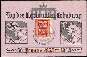 33595 - 1943 NĚMECKO  příležitostná necelinová dopisnice Den n