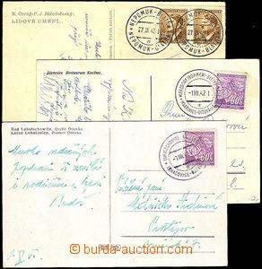 33604 - 1942/45 sestava 6ks celistvostí s razítky ÚPŽ : Luhačov
