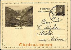 33609 - 1939 CDV67/6 T. G. Masaryk 1,20CZK sent inland, CDS 7.VII.39
