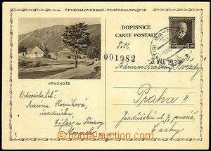 33610 - 1939 CDV67/7 T. G. Masaryk 1,20CZK, to BOHEMIA-MORAVIA, post