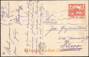 33612 - 1918 postcard with 10h (Pof.5), MC Brno/ 30.XII.19, early us