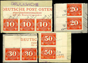33618 - 1940 GENERAL GOVERNMENT  4 pcs of cut-squares with delivery