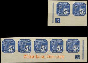 33622 - 1939 Pof.NV2, Novinové I  5h levá rohová 2-páska s DČ 3