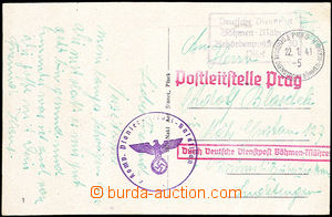 33720 - 1941 postcard sent as Feldpost (Field-Post) through/over Ger