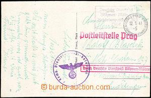 33720 - 1941 pohlednice zaslaná jako Feldpost přes německou služ