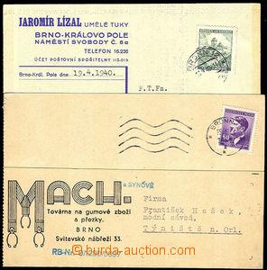 33723 - 1940/44 sestava 10ks firemních dopisnic a tiskopisů s rekl