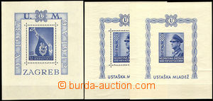 33737 - 1942/43 3x miniature sheet Mi.Block 3A, Block 4A+B, good con