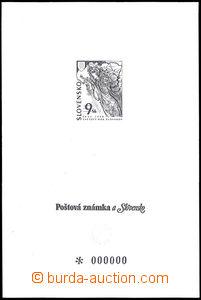 33741 - 1997 Zsf.PTb123, reliéfový tisk znaku, s nulami (katalog n