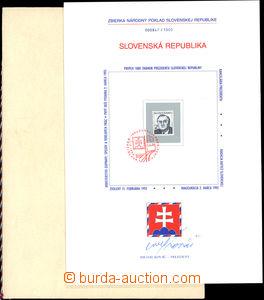 33743 - 1993 ZNL3, Sbírka na národní poklad, s podpisem prezident