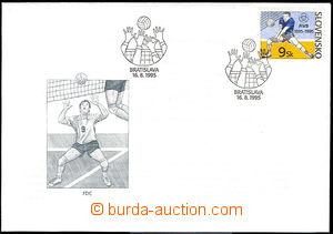 33747 - 1995 FDC Zsf.74  100 rokov volejbalu, ve známce posun svět