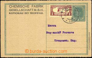33776 - 1919 CPŘ3 Charles, uprated express stamp. Mi.219, at top al