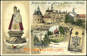 33796 - 1905 Svatá Hora near Příbram, drawn collage lithography,