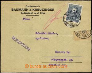 33824 - 1938 CENZURA  firemní dopis zaslaný z Podmokel 19.IX.38 do