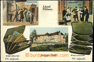 33825 - 1919 Piešťany -  color 3-views collage, funny, Hungarian-C