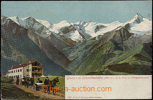 33829 - 1907 Schmittenhöhe (Salzburg) -  barevný záběr na Alpy,