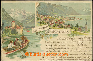 33856 - 1897 Montreux - barevná 2záběrová litho, DA, prošlá, j