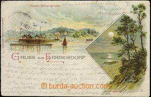 33872 - 1897 Heringsdorf - Německo, barevná 2záběrová litho, DA