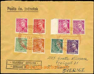 33898 - 1940 letter from France to Sweden by Czechosl. field post, m